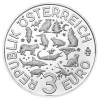 österreich 3 Euro Tier Taler Eule 2018 Münze Im Online Shop Www