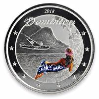 Dominica - 2 Dollar EC8 The Nature Island PP - 1 Oz Silber Color