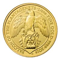 Großbritannien - 25 GBP Queens Beasts The Falcon 2019 - 1/4 Oz Gold