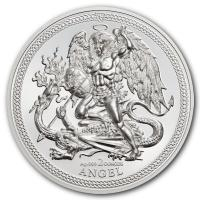 Isle of Man - 1 Angel 2018 - 2 Oz Silber Piedfort HighRelief