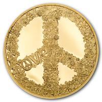Palau - 1 USD Summer of Love - Gold PP