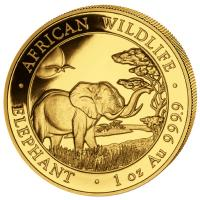 Somalia - 1000 Shillings Elefant 2019 - 1 Oz Gold