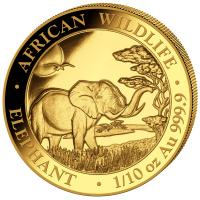 Somalia - 100 Shillings Elefant 2019 - 1/10 Oz Gold
