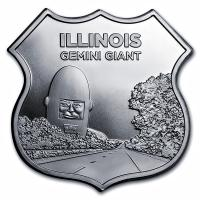 USA - Route 66 Illinois Gemini Giant - 1 Oz Silber