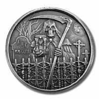 USA - The Grim Reaper 2018 - 1 Oz Silber HighRelief