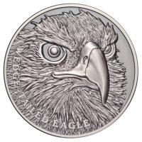 Niue - 1 NZD Wildlife Serie Wedge Tailed Eagle 2019 - 1 Oz Silber UHR Antik Finish