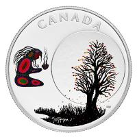 Kanada - 3 CAD Weisheiten: Falling Leaves Moon - Silber Proof