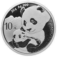 China - 10 Yuan Panda 2019 - 30g Silber