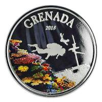 Grenada - 2 Dollar EC8 Diving Paradise PP - 1 Oz Silber Color