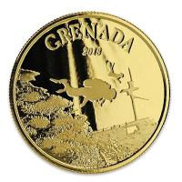 Grenada - 10 Dollar EC8 Diving Paradise - 1 Oz Gold