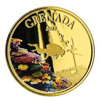 Grenada - 10 Dollar EC8 Diving Paradise PP - 1 Oz Gold Color