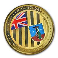 Montserrat - 10 Dollar EC8 The Emerald Isle PP - 1 Oz Gold Color