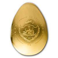 Palau - 1 USD Golden Dragon Egg / Goldenes Drachenei - Goldmünze