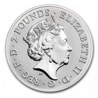 Großbritannien - 2 GBP Landmarks of Britain Buckingham Palace 2019 - 1 Oz Silber