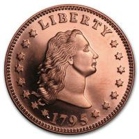 USA - Flowing Hair Dollar - 1 Oz Kupfer
