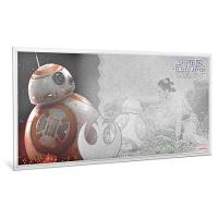 Niue - 1 NZD Star Wars Episode 7 BB8 - Silber-Banknote