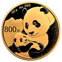 China - 800 Yuan Panda 2019 - 50g Gold PP