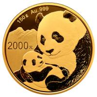 China - 2000 Yuan Panda 2019 - 150g Gold PP