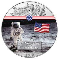 USA - 1 USD Silver Eagle Man on Moon 2019 - 1 Oz Silber Color