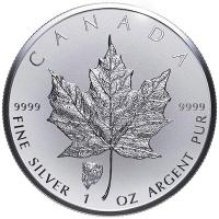 Kanada - 5 CAD Maple Leaf 2018 - 1 Oz Silber Privy Bison