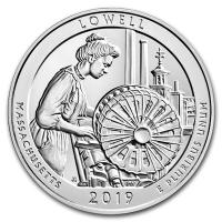 USA - 0,25 USD Massachusetts Lowell Park 2019 - 5 Oz Silber