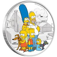 Tuvalu - 2 TVD Die Simpsons Familie (The Simpson Family) 2019 - 2 Oz Silber