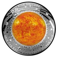 Australien - 5 AUD Earth and Beyond Sonne - 1 Oz Silber