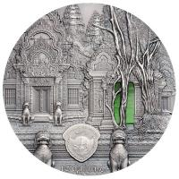 Palau - 10 USD Tiffany Art Khmer 2019 - 2 Oz Silber