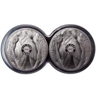 Südafrika - 10 Rand Big Five Elefant 2019 - 2*1 Oz Silber Proof Set