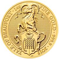 Großbritannien - 100 GBP Queens Beasts Yale of Beaufort 2019 - 1 Oz Gold