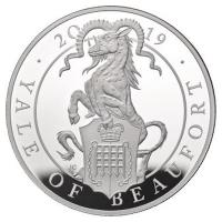 Großbritannien - 10 GBP Queens Beasts Yale of Beaufort 2019 - 10 Oz Silber PP