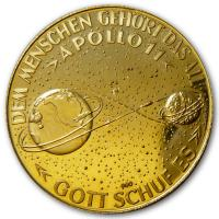 Goldmedaille - Apollo 11 Armstrong Collins Aldrin - Gold