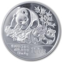 China - 100 Yuan Panda 1989 - 12 Oz Silber PP