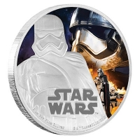 Niue - 2 NZD Star Wars Episode VII Captain Phasma - 1 Oz Silber PP (19%)