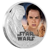 Niue - 2 NZD Star Wars Episode VII Rey - 1 Oz Silber PP (19%)