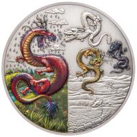 Niue - 5 NZD Drachenserie The Four Dragons 2019 - 2 Oz Silber