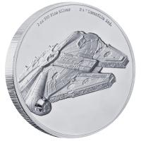 Niue - 5 NZD Star Wars Millennium Falcon 2019 - 2 Oz Silber HighRelief
