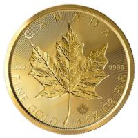 Kanada - 50 CAD Incuse Maple Leaf 2019 - 1 Oz Gold