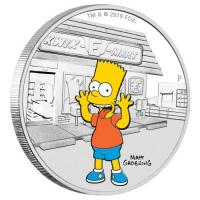 Tuvalu - 1 TVD The Simpsons Bart 2019 - 1 Oz Silber PP