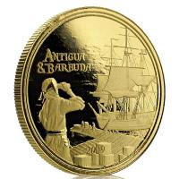 Antigua und Barbuda - 10 Dollar EC8II Rum Runner 2019 - 1 Oz Gold