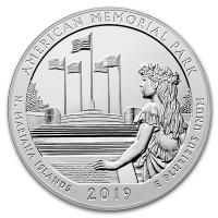 USA - 0,25 USD Mariana Islands Memorial Park 2019 - 5 Oz Silber