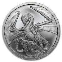 USA - World of Dragons The Welsh Drache - 1 Oz Silber