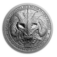 USA - Destiny Knight The Dragon of Death - 2 Oz Silber