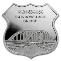 USA - Route 66 Kansas Rainbow Bridge - 1 Oz Silber