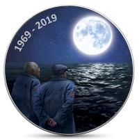 USA - 1 USD Mondlandung Nostalgie 2019 - 1 Oz Silver Glow in the Dark