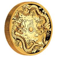 Australien - 200 AUD Double Dragon 2019 - 2 Oz Gold HighRelief