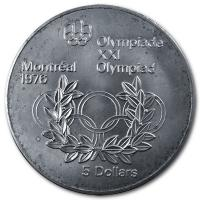 Kanada - 5 CAD Olympiade Montreal (Diverse) - 24,3g Silber