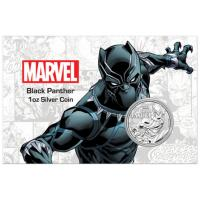 Tuvalu - 1 TVD Marvel Black Panther COMIC Blister 2018 - 1 Oz Silber