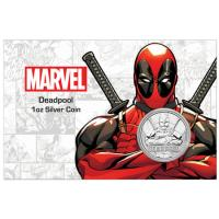 Tuvalu - 1 TVD Marvel Deadpool COMIC Blister 2018 - 1 Oz Silber