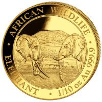 Somalia - 100 Shillings Elefant 2020 - 1/10 Oz Gold